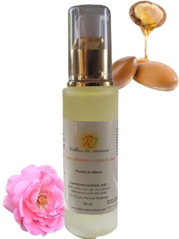 Organic argan oil with rose...