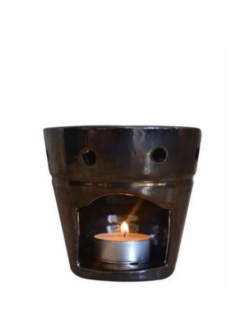 Brûle Parfum en Céramique Noir